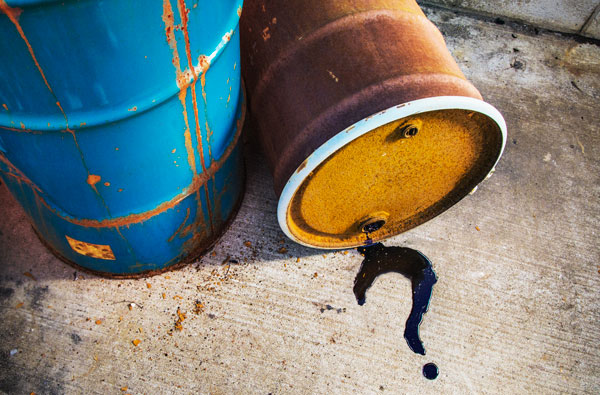 How to dispose of hydraulic oil